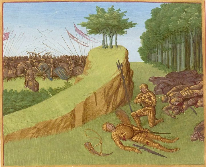 The death of Roland at the Battle of Roncevaux