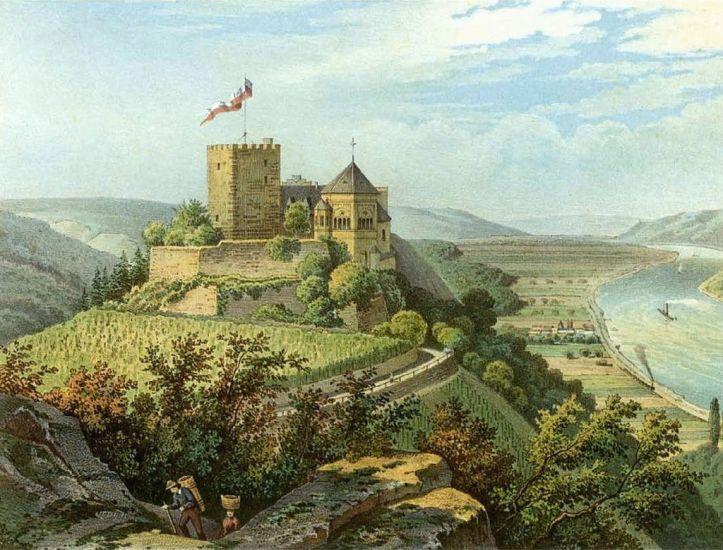 Rheineck around 1860
