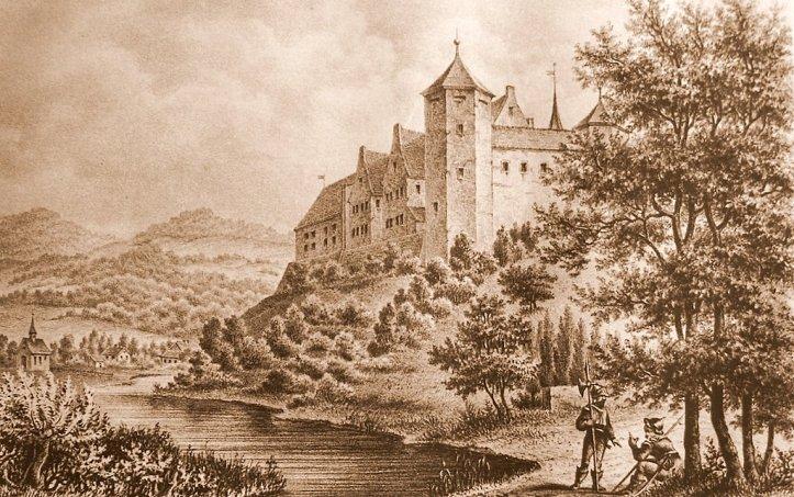 Castle Jagsthausen around 1861